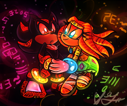 Shadow and Tikal by Blossom-fur7
