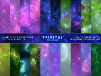 20 FREE SPACE BACKGROUNDS - PACK 23 by ERA-7