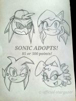 Sonic Adopts Set 1 OPEN by Official-Stargazer