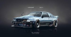 Foxy Mustang - Inbound racer by yasiddesign