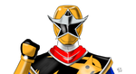 Ninja Steel Gold Ranger by robertamaya