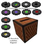 Minecraft Jukebox and Record Disc Magnets by vandonovan