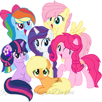 Au??~ Mane 6 Look Update-? by Bezziie