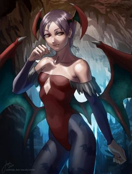 Lilith: Darkstalkers Cover Art by JophielS