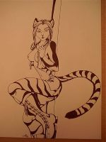 stripper tiger by arcticfoxie