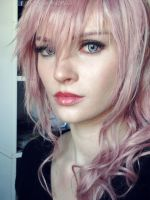 Final Fantasy XIII: Lightning Cosplay Makeup Test! by AlysonTabbitha