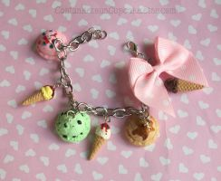 Ice Cream Charm Bracelet by CantankerousCupcake