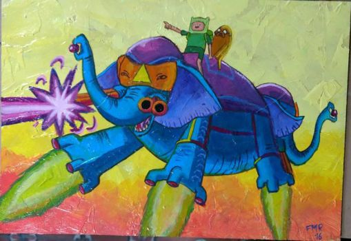 Ancient Psychic Tandem War Elephant by FrankMR
