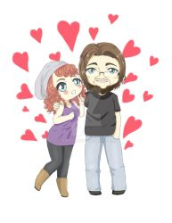 Commission For A Cute Couple by Pinny