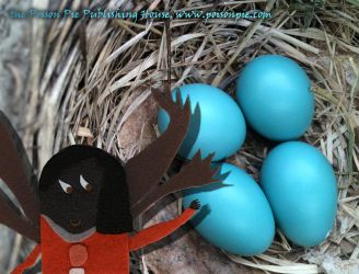 Robin Faerie in Nest with Eggs by PoisonPiePublishing