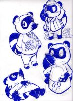 Tom Nook Doodles by ASmallOne
