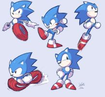 Sonic Sketches by StaticBlu