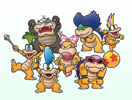 The Koopalings 2D by PxlCobit
