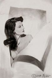 Vivien Leigh Study by mking2008