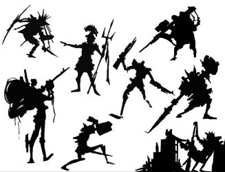 character silhouettes by p-o-q