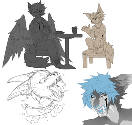 WIPs by MonsterFennec
