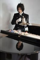 Sebastian Michaelis - Tea time by RomaiLee
