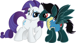 Rarity x Meat Slice OC (Commission) by Jakage