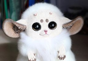 Inari Fox: White with horns by Santani
