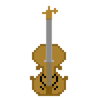 Pixel Violin by CaptainToog