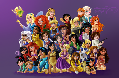 Disney Princesses 3.0 by McManamanimation