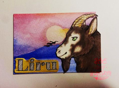 ACEO Badge for Liru by wolfgryph