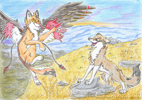 Race to the Sun (Art Trade) by Nakouwolf