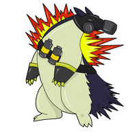 TF2 Pokemon - Pyro Typhlosion by Jestermation