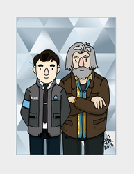 Connor and Hank (Detroit: Become Human) by LoonyBuffoon