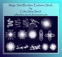 Magic Swirl Brushes by CelticStrm-Stock by CelticStrm-Stock