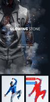 Glowing Stone Photoshop Action by GraphicAssets