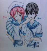 Rin and Haru by XLinktasticX