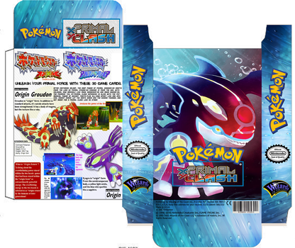 Pokemon Primal Clash deck Kyogre custom box TCG by SylentEcho88