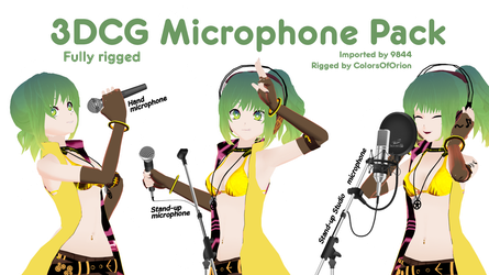 [MMD Props] - 3DCG Microphone pack (+dl) by ColorsOfOrion