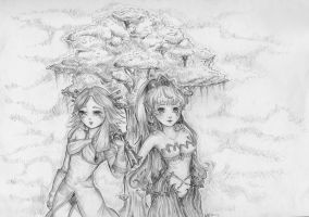 Secret leaf LoM heroine and Primm by alaxative