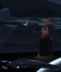 Leina Astri in Star Trek Online with the USS Menel by ReinaHW