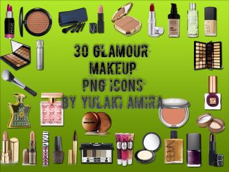 30 glamour makeup png icons by amirajuli