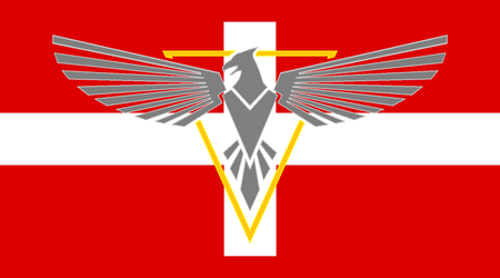 Flag of the Alpine Military Government by HistoryRedone