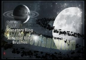 Planetary Ring and Asteroid Ring GIMP Brushes by FrostBo