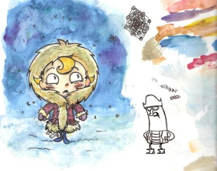Wintery flapjack by a-song-unsung