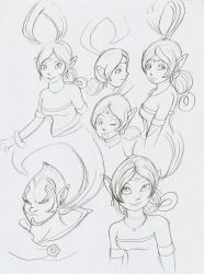 Shahra sketches by ThePandamis
