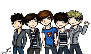 5 Boys, One Direction by awildsharpieappeared