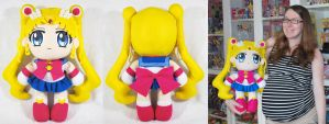 Giant Sailor Moon Crystal Plush by SarahsPlushNStuff