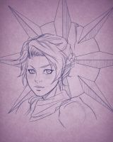 Pike Trickfoot and Her symbol of Sarenrae by Gearfreed