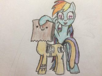 Paperbags are not hard to draw by RainbowDash1804