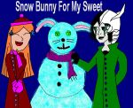 Snow Bunny For My Sweet by invderzimfannumber1