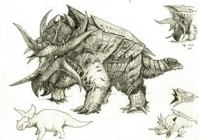 Hyperendocrin triceratops by Aykwan