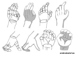 Hand Tutorial 2 - Different Poses by anredera