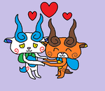 Komasan X Komajiro by Clawort-Animations
