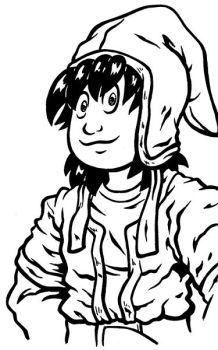 Doing some Brush Inking... Dragon Quest 7 Hero by Marvelousboy